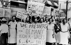 Photo By Women pressers on strike for higher wages | Title: Women pre… | Flickr - Photo Sharing!