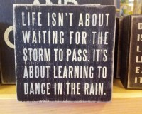 英語脳メルマガ 第02364号 Life isn't about waiting for the storm to pass…It's about learning to dance in the rain の意味は?