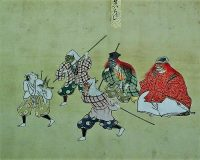 英語脳メルマガ 第03440号 Mansaku Nomura performed kyogen traditional Japanese comic plays in Beijing. の意味は?